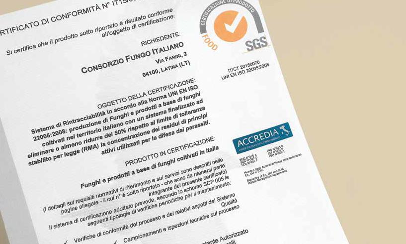 La certificazione SGS