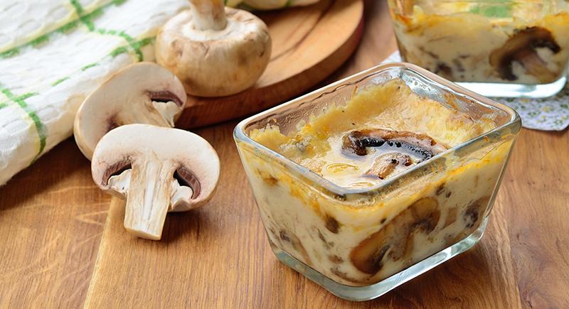 Terrinette funghi e parmigiano