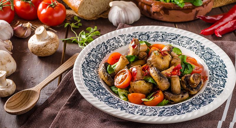 Funghi champignon alla greca